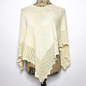 Burberry London wool cashmere poncho shawl